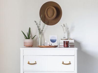 decorated dresser top