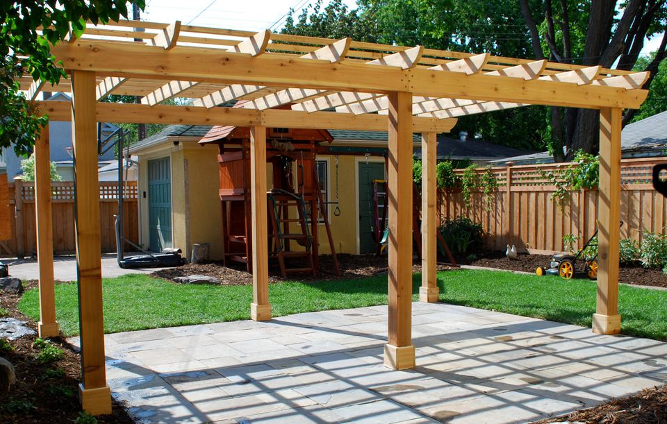 Basic Backyard Pergola