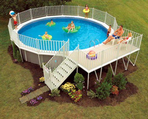 above ground pool with deck and hot tub. Above Ground Pool With Deck And Hot Tub