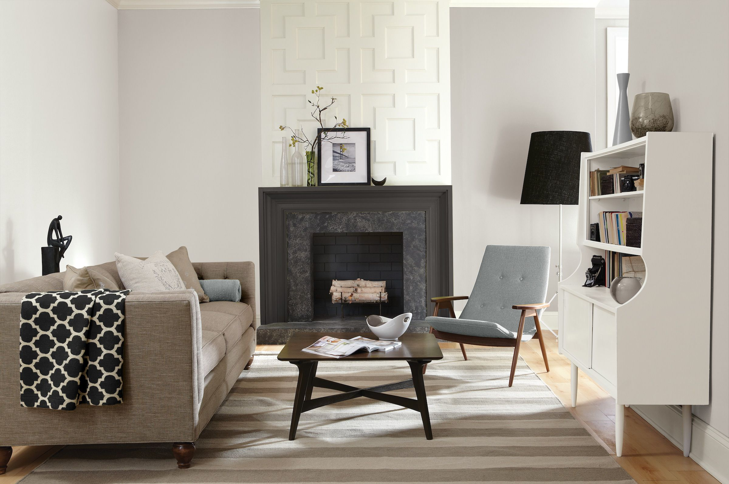 Glidden Smoky Charcoal top 9 neutral paint colors for a new home