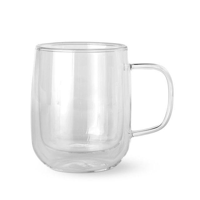 Williams Sonoma Double-Wall Glass Coffee Mugs