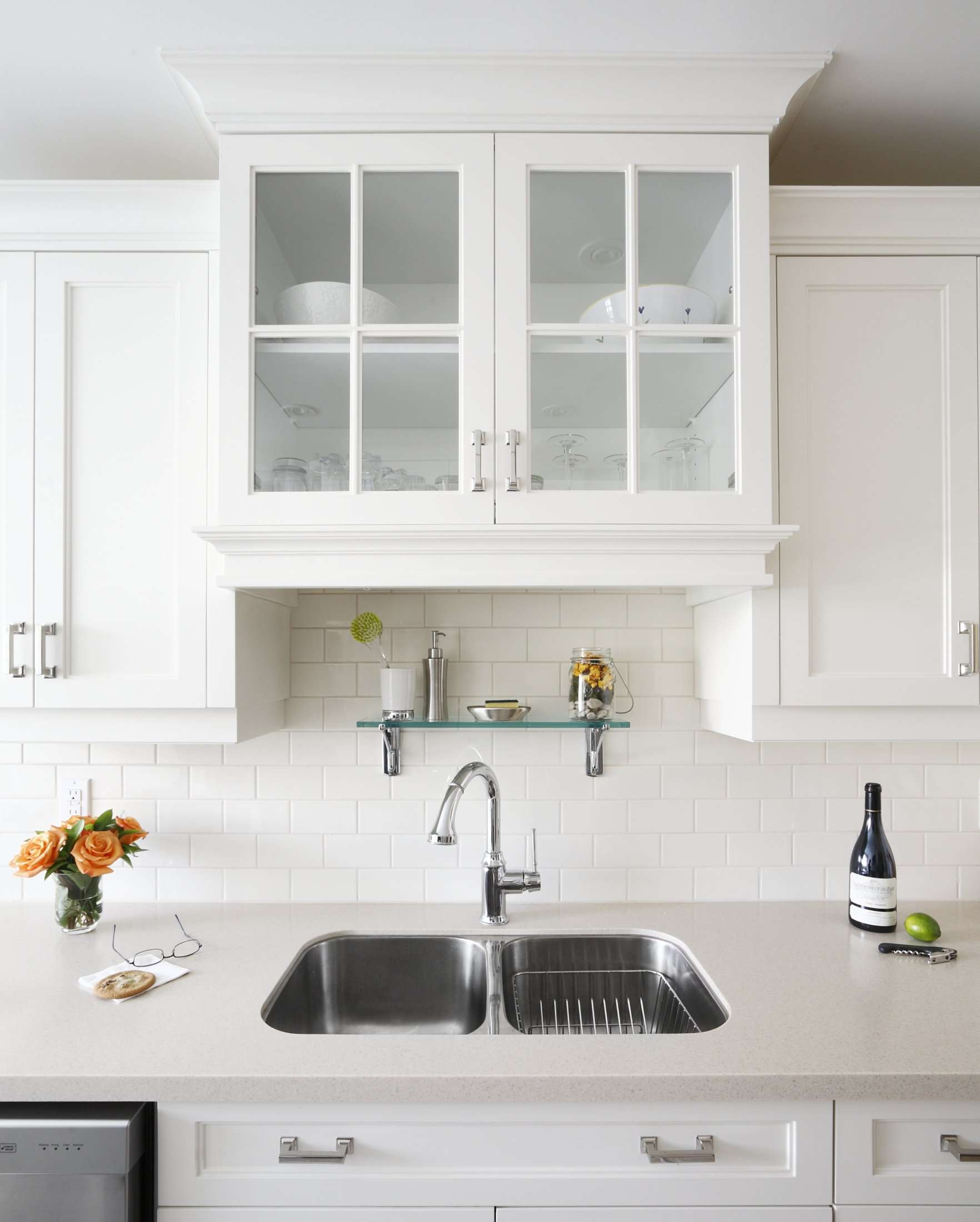 solid countertop with an undermount sink