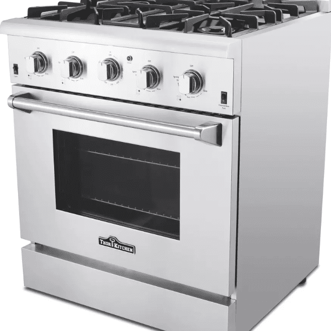 Best For Gourmet Cooks Thor Kitchen Hrg3080u 30 Freestanding Gas Range