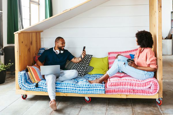 couple spending time at home