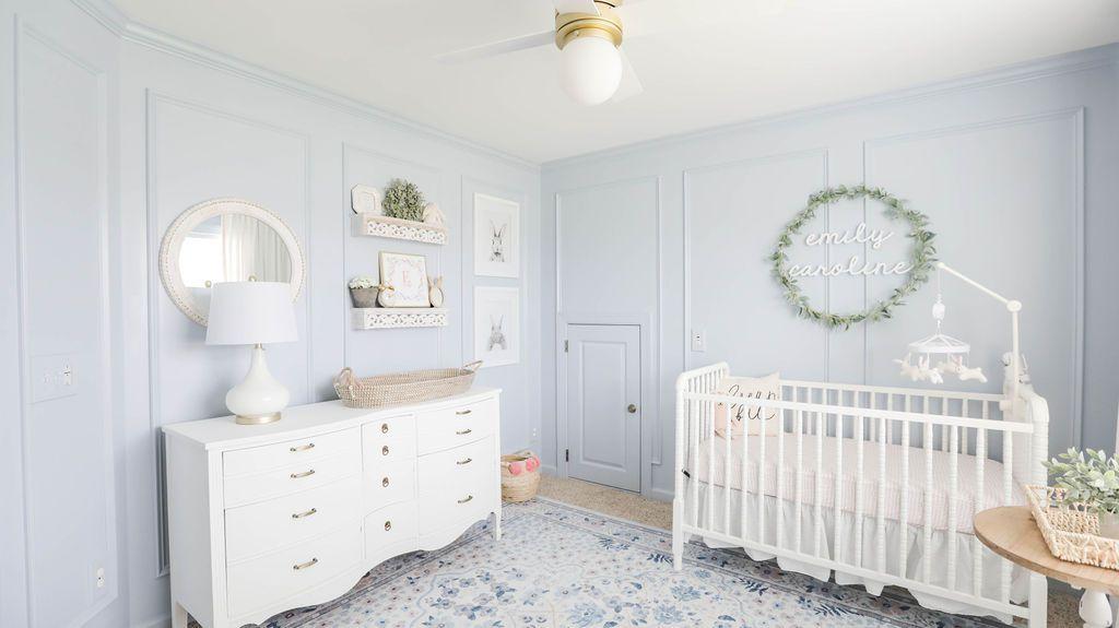Vintage nursery in Periwinkle blue.
