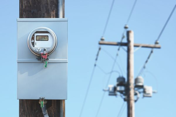 power line and electric meter