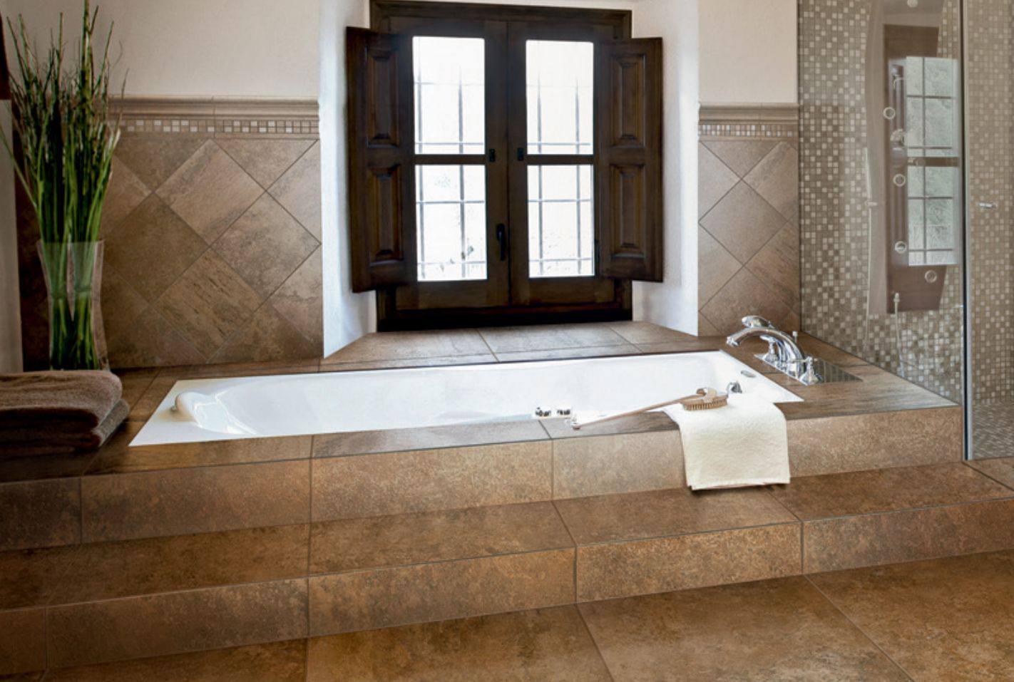 azulejo de baño a gran escala
