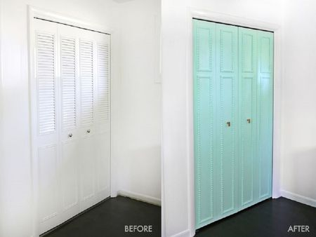 Use Wood Trim To Decorate Your Closet Door