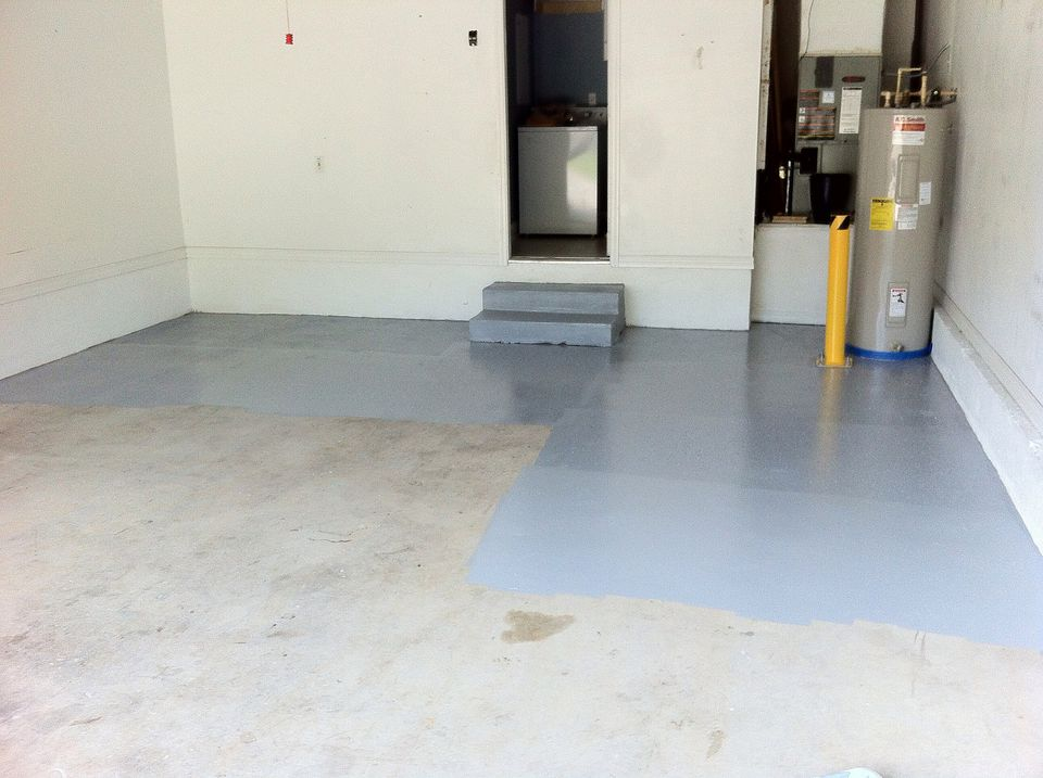 Applying Epoxy Paint To Painted Garage Floor