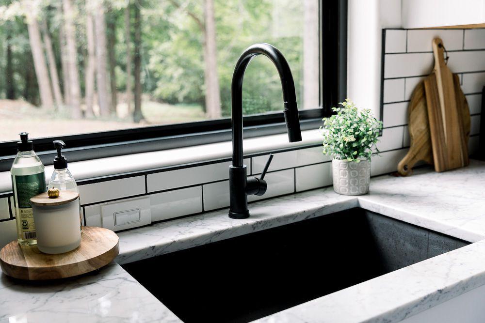 organized kitchen sink