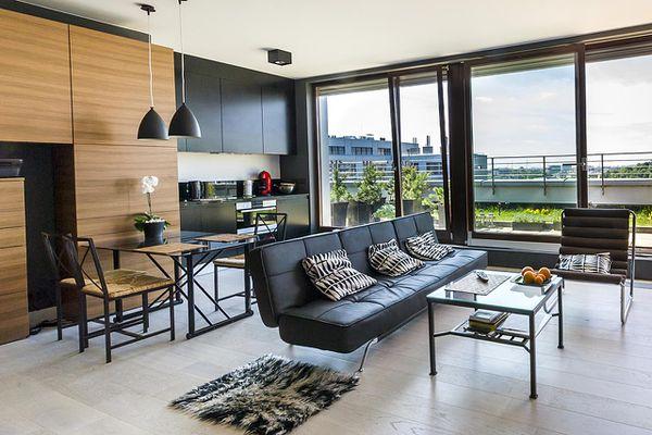 Modern interior design room