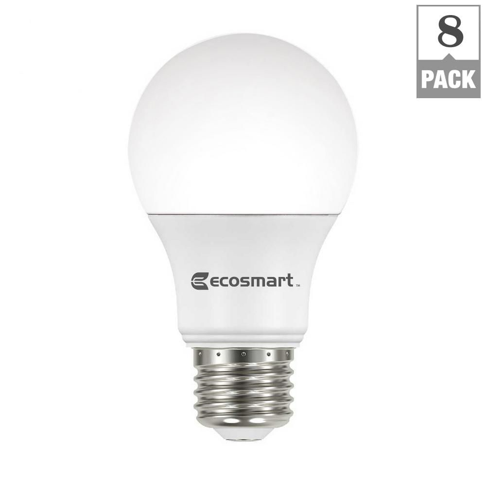 EcoSmart 60-Watt Equivalent A19 Non-Dimmable Basic LED Light Bulb