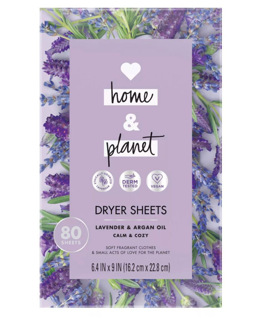 Love Home and Planet Dryer Sheets