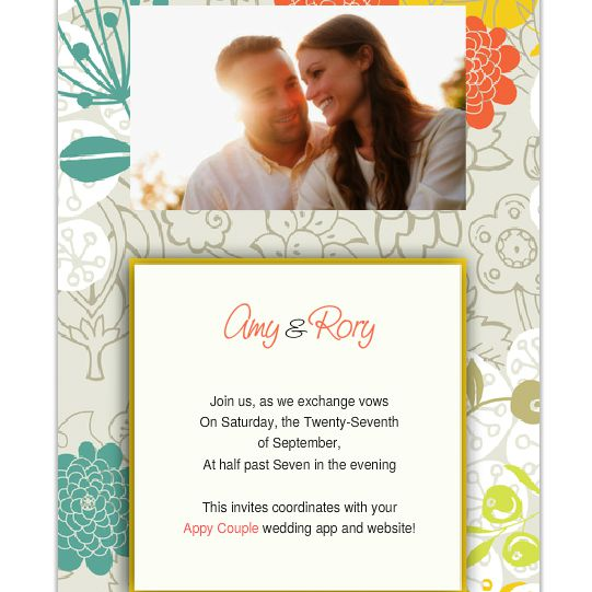 A Colorful Online Wedding Invitation With Photo