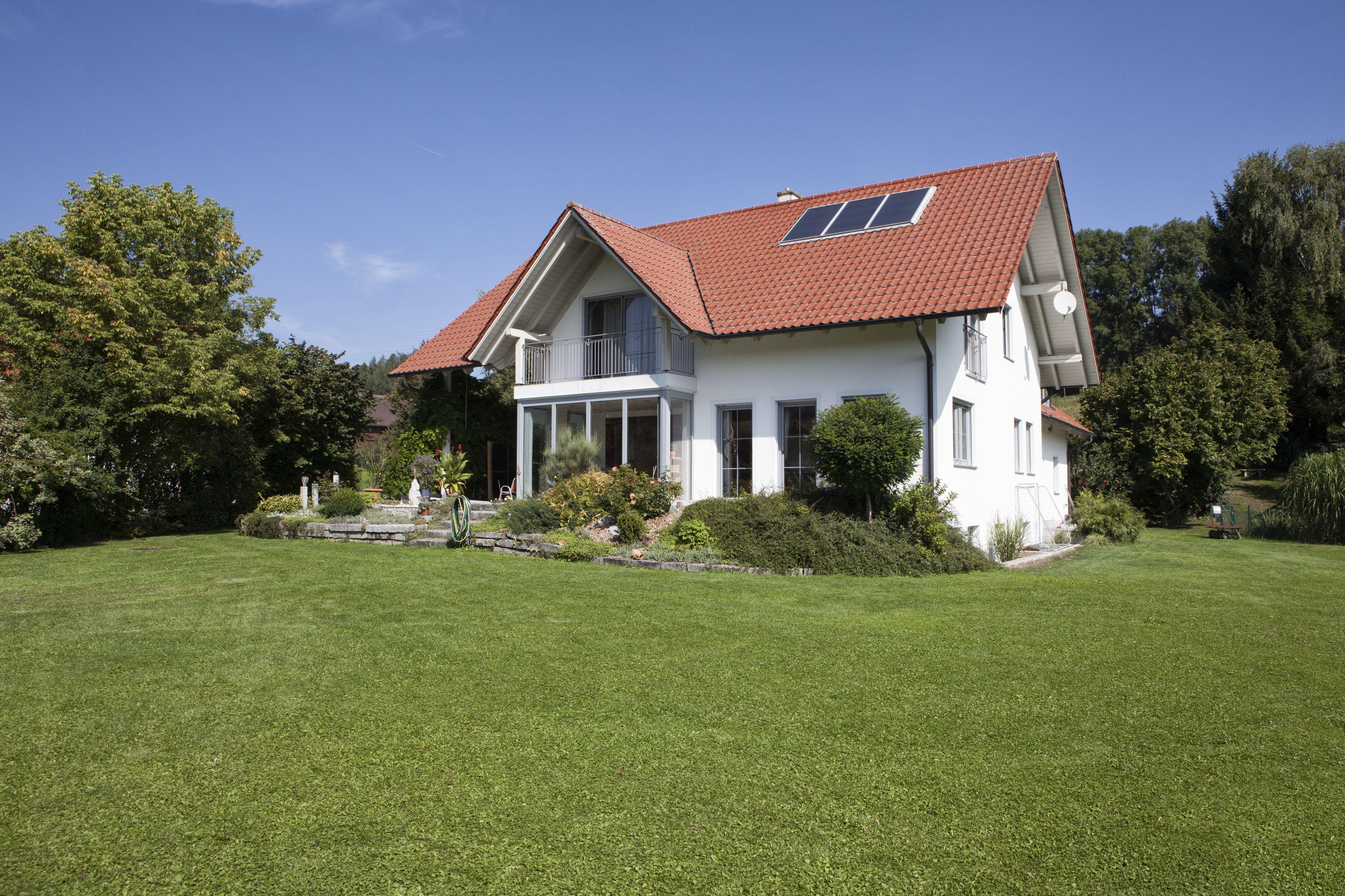 single-family house with garden