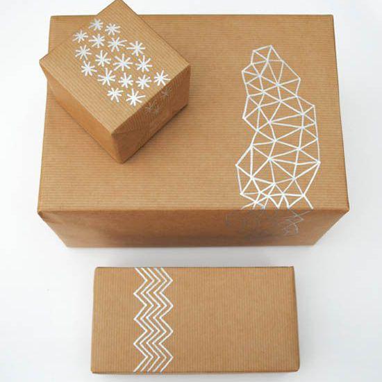 Envoltura moderna geométrica de Navidad