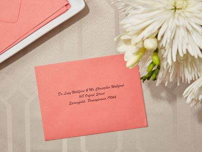 invitation addressed to a doctor
