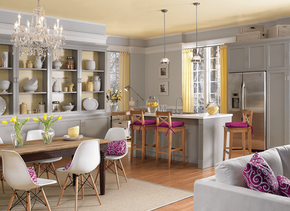 A kitchen with a neutral color scheme