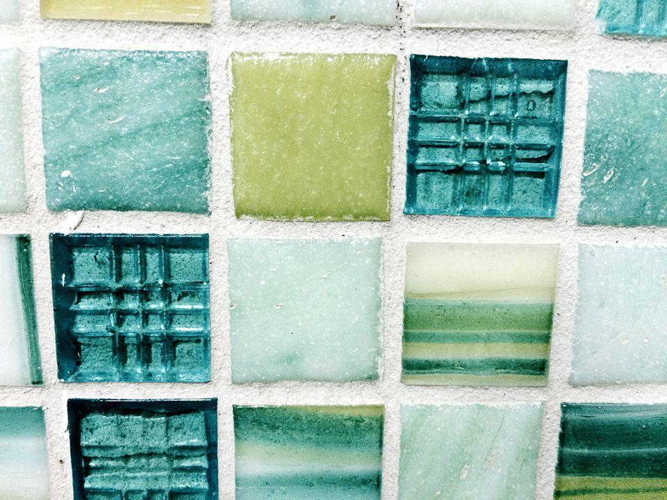 Full Frame Shot Of Glass Tiles