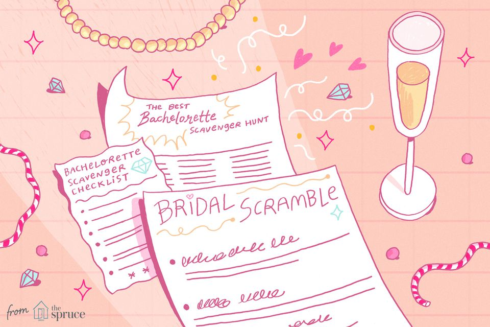 bachelorette scavenger hunts illustration