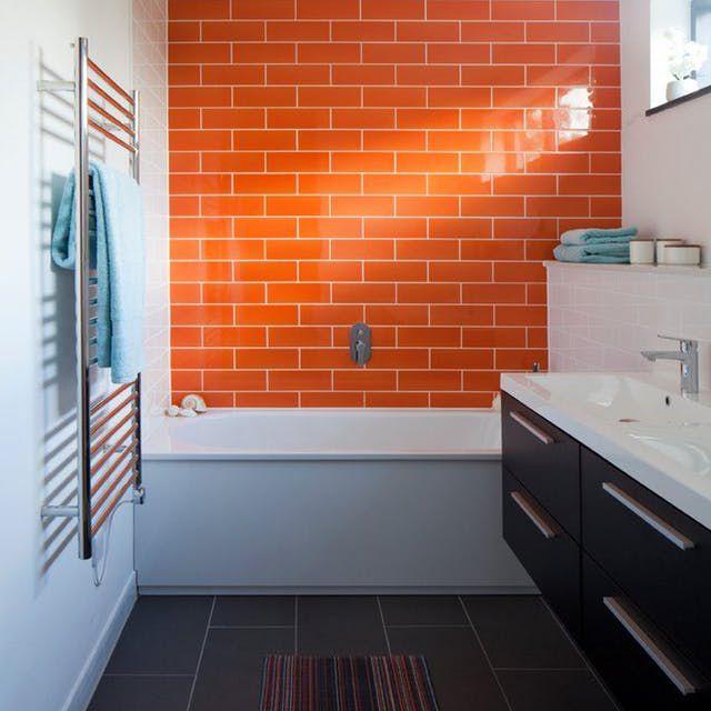 16 Ideas For Using Orange In A Bathroom