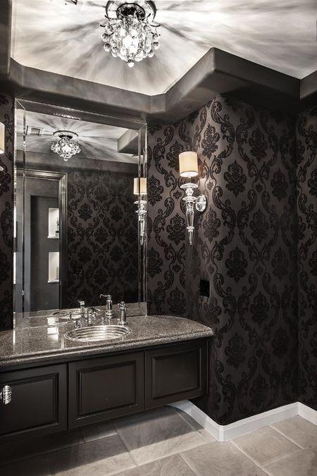 Black Bathroom Orange Coast Interior Design