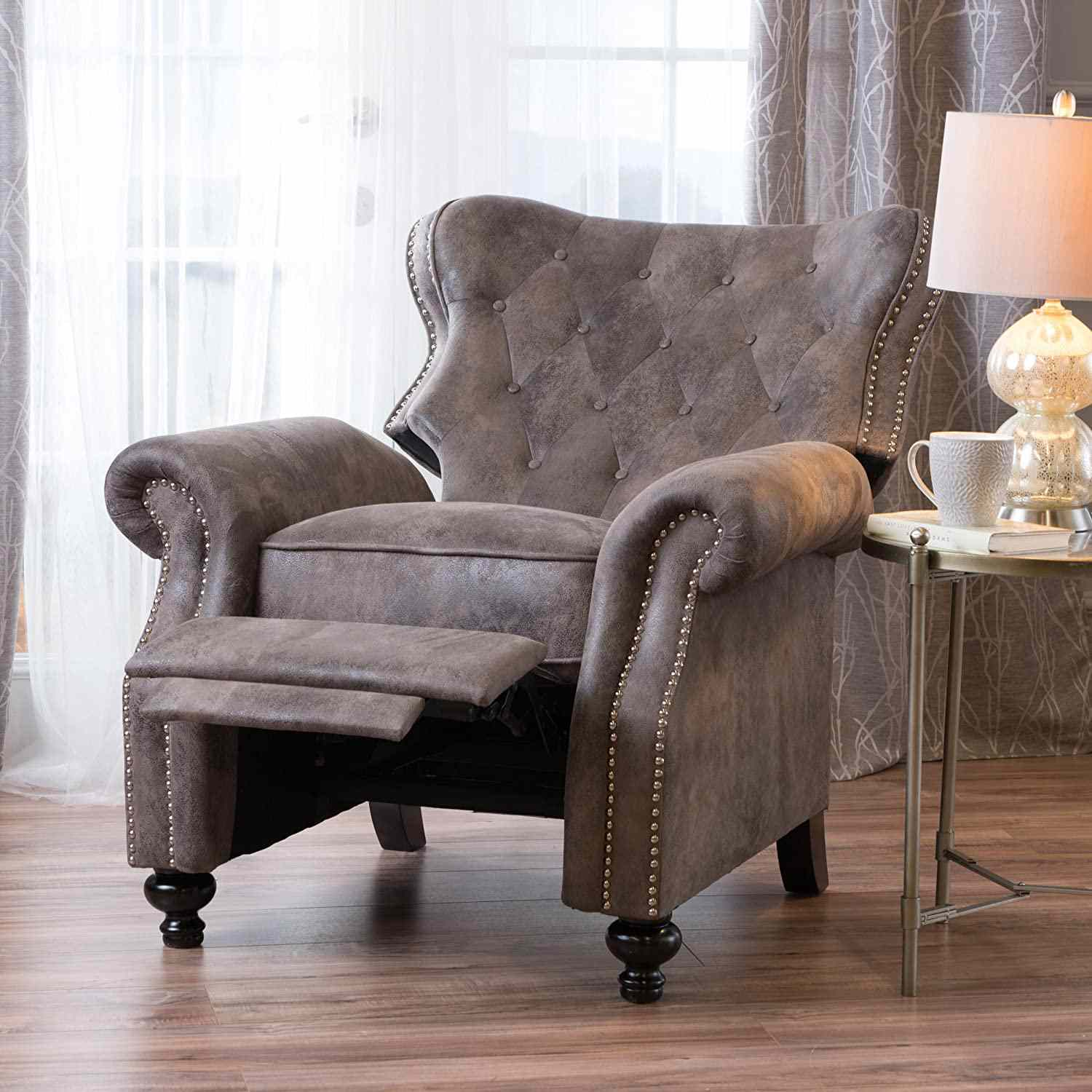 Christopher Knight Home Walder Tufted Wingback Recliner Chair