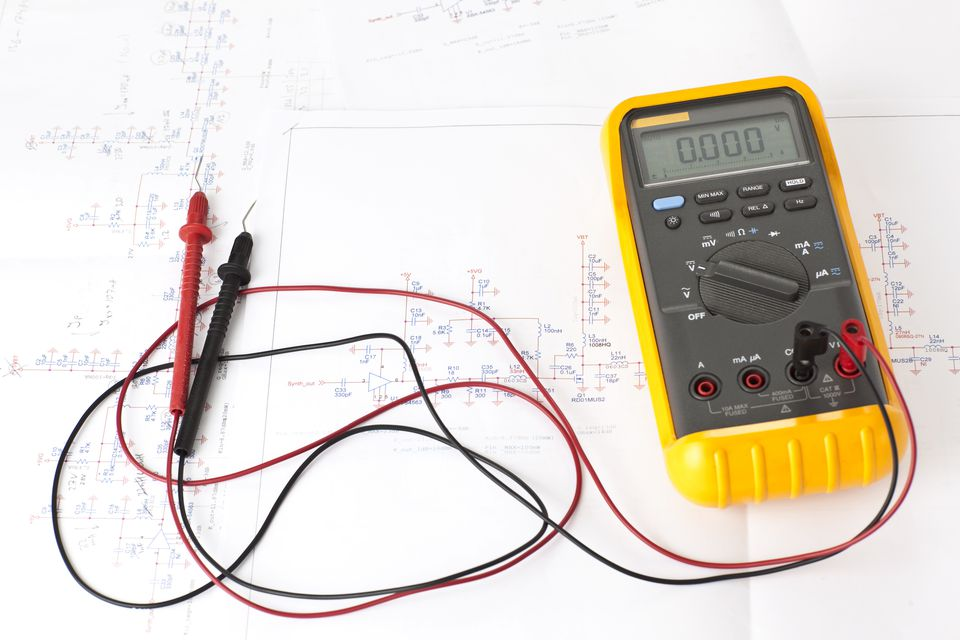 multimeter and electrical plan