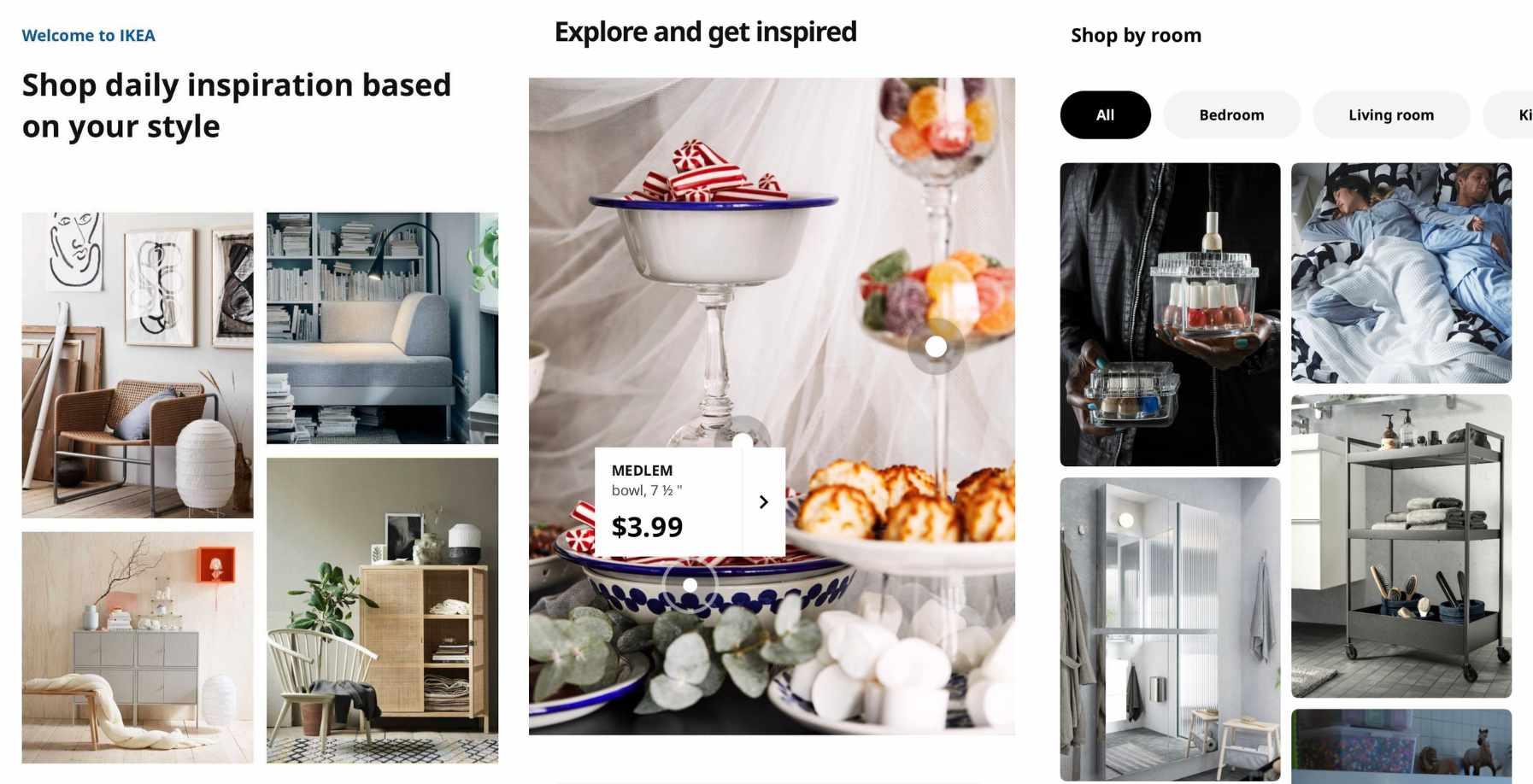 Ikea app screenshots