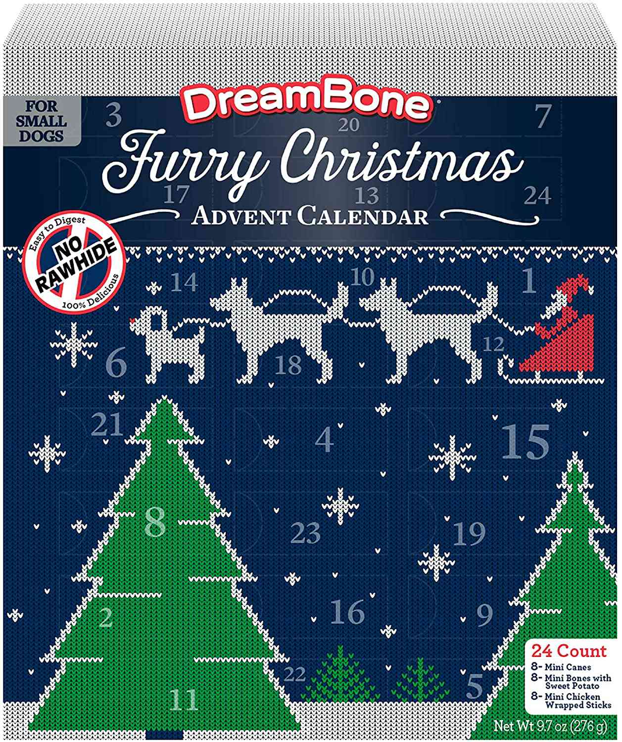 DreamBone Holiday Advent Calendar with Limited Edition Holiday Dog Treats