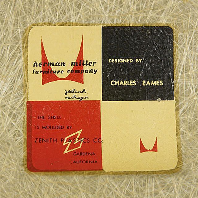 Eames Label on Fiberglass Chair
