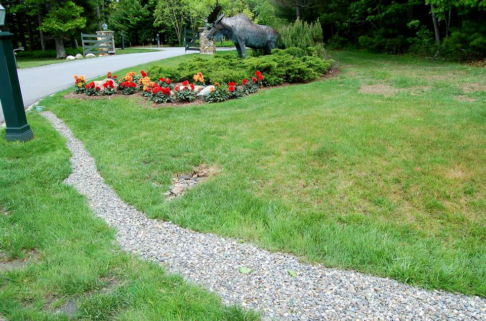 Image: French drain with gravel.