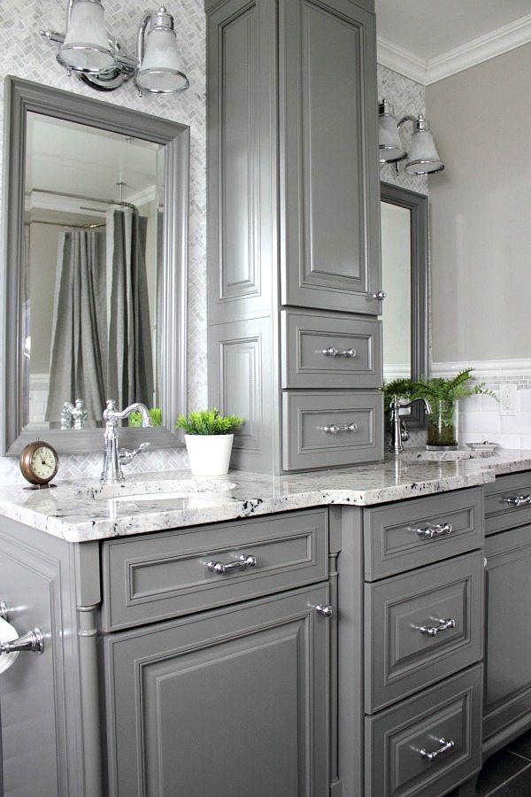 26 Ideas For Beautiful Gray Bathrooms