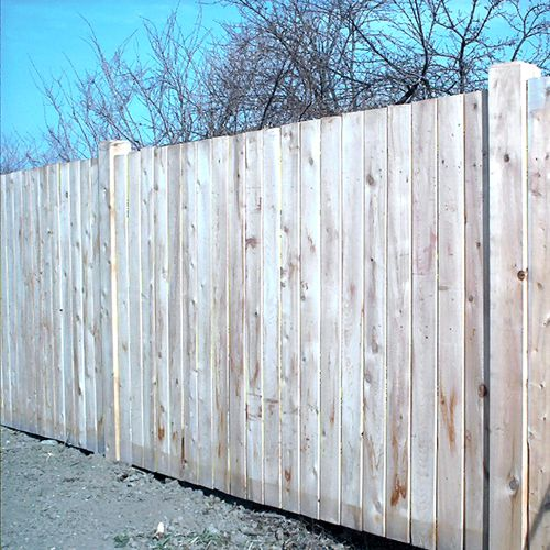 Picture of a privacy fence.