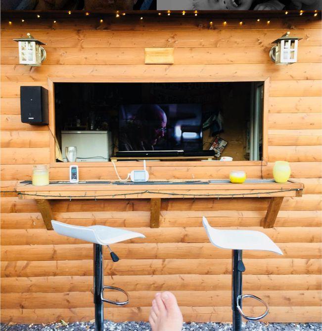 bar en la cabina al aire libre