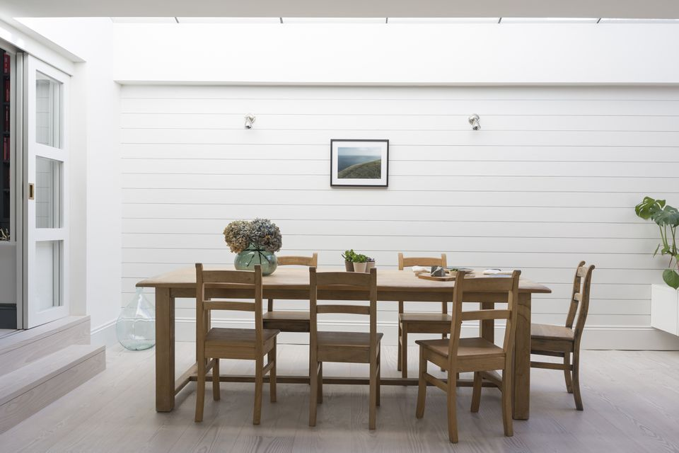 Luxury home showcase patio dining table