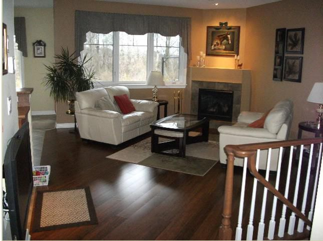 bamboo flooring in a family room