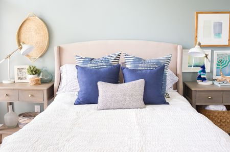 When Blue Meets White In A Bedroom