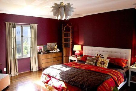 Deep Red Bedroom Walls