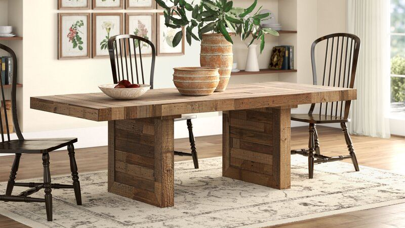 The 8 Best Farmhouse Dining Tables Of 2020
