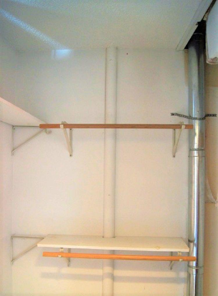 closet with ventilation flue