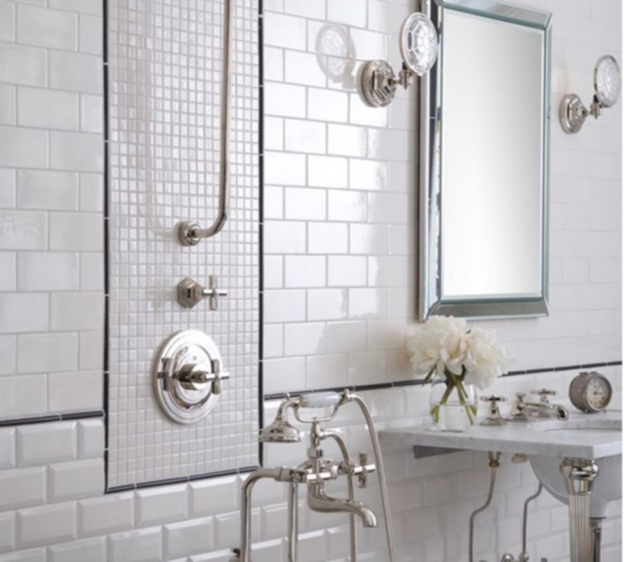 Great Bathroom Tile Ideas - 6x8 white wall tile