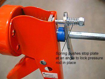 caulk gun locking mechanism