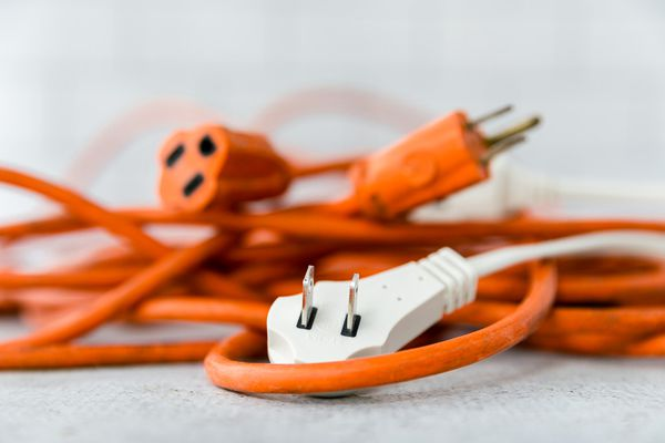 tangle of extension cords