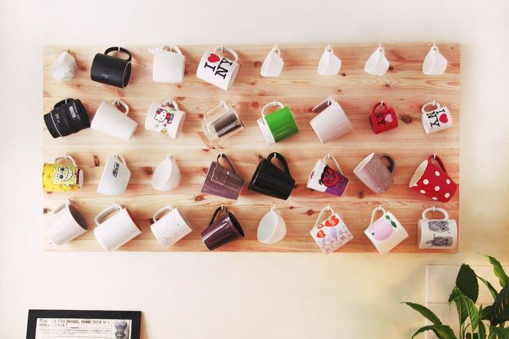 mug storage wall mount