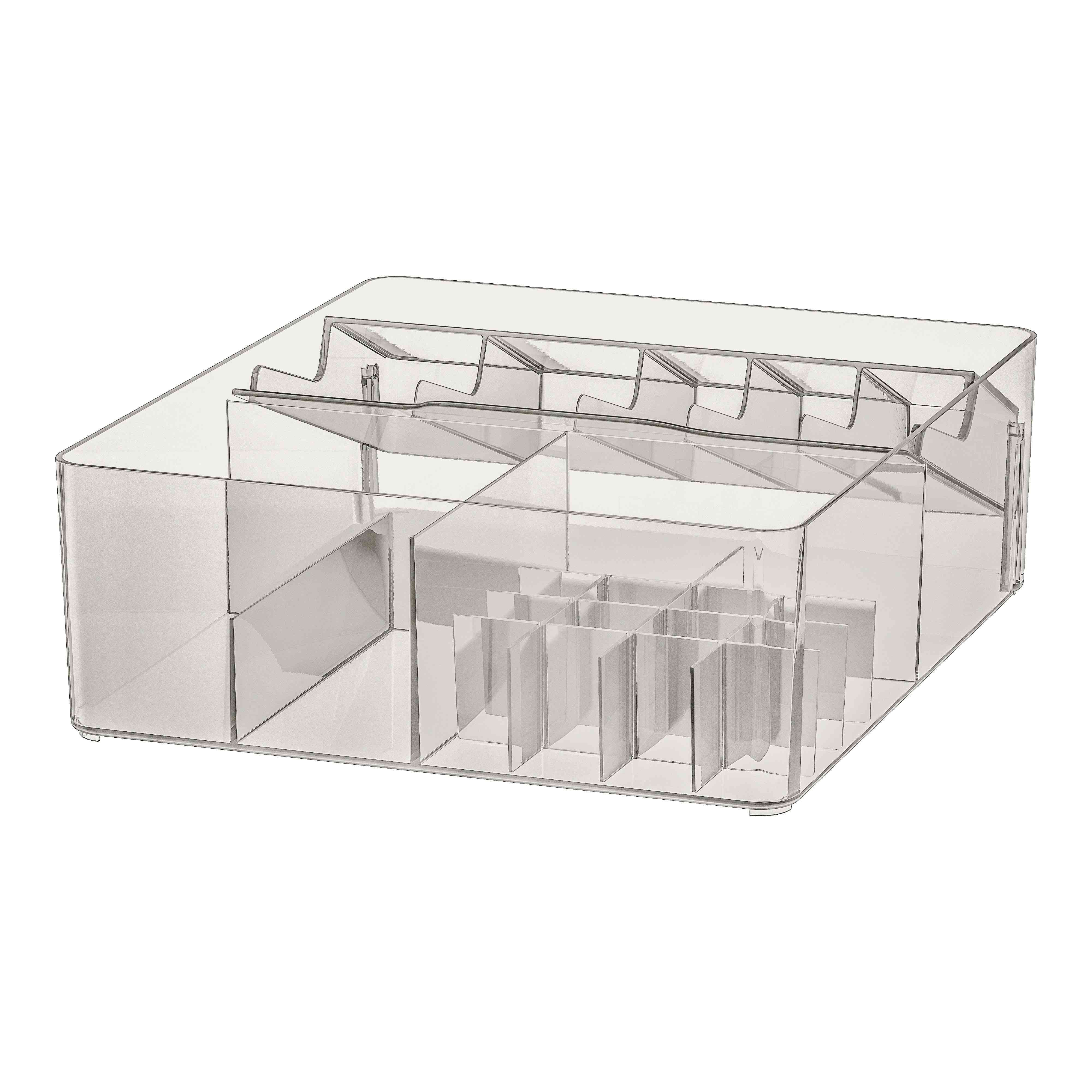 IKEA GODMORGON Box With Compartments, Smoked