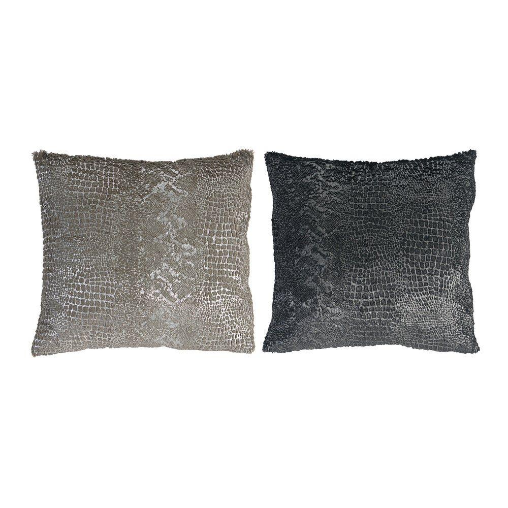 A&B Tan and Black Pillows