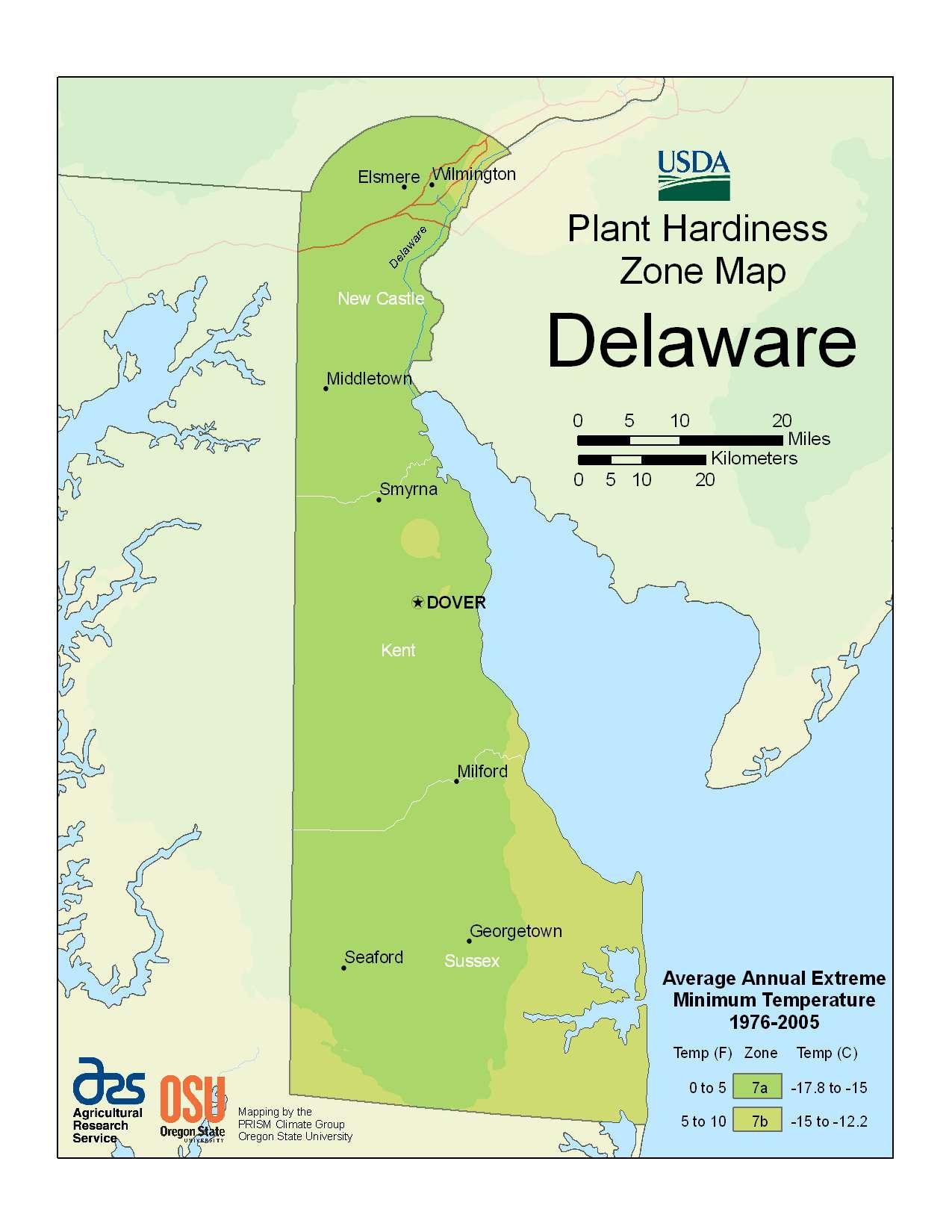 Photo of the Delaware Hardiness Zones