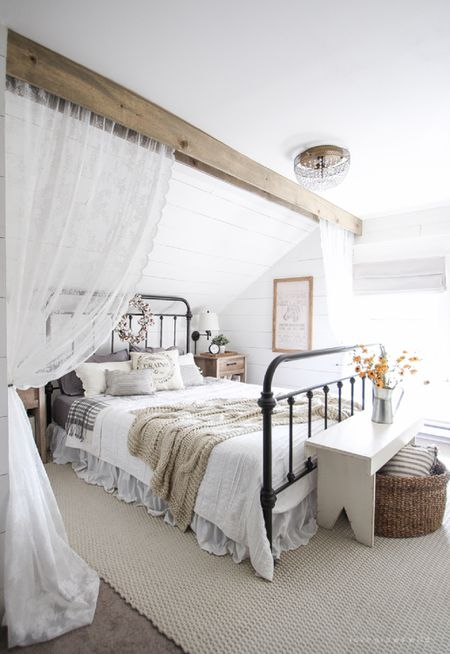 40 Decorating Ideas For FarmhouseStyle Bedrooms Best Romantic Bedroom Paint Colors Ideas Minimalist Design