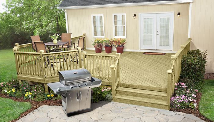 Stand Alone Deck Designs : Free do it yourself deck plans